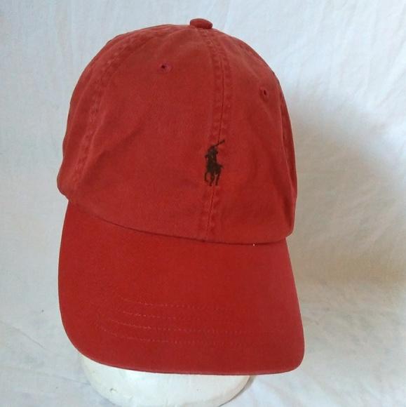 Polo Vintage Red Ralph Lauren Pony Dad Hat VUMSzpLGq